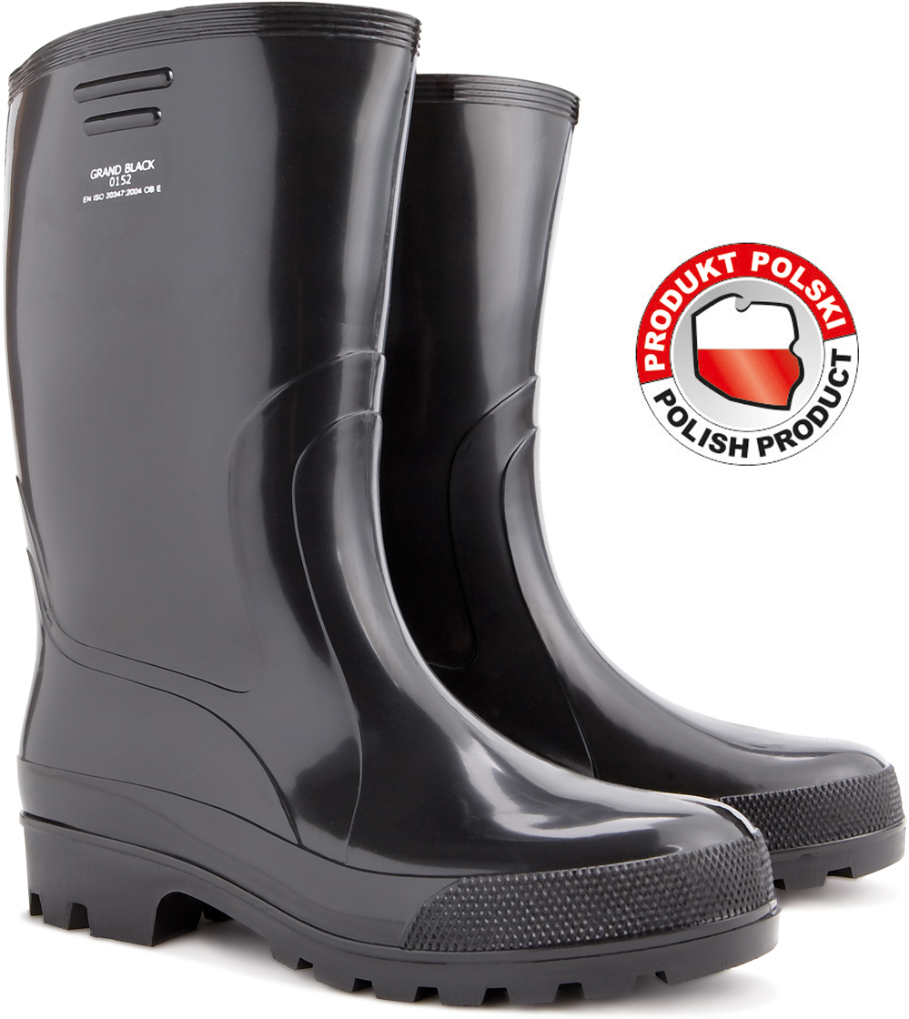 GRAND BLACK RAINY BOOTS FOR MAN SIZE 42