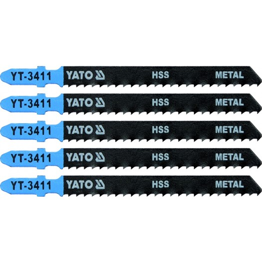 JIG SAW BLADE TYPE T, 8 TPI, FOR METAL, 5 PCS