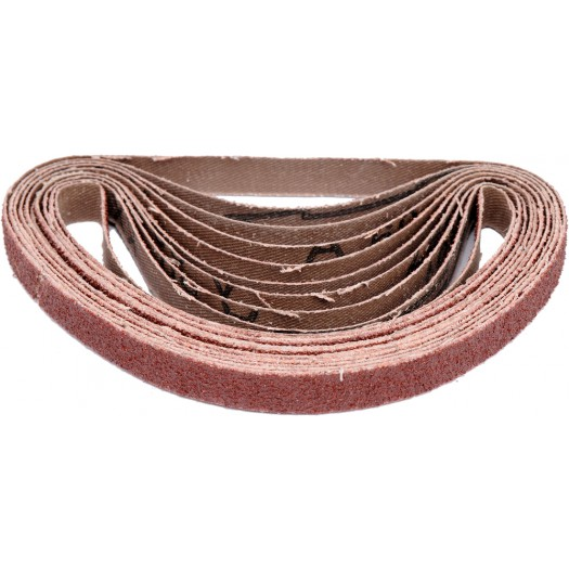 SANDING BELT 10 PCS GRIT: P60 SIZE:10X330MM