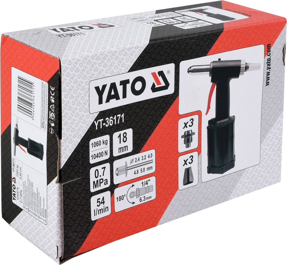Yato YT-36171 Pneumatic riveting tool 2,4-5,00mm