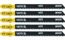 JIG SAW BLADE TYPE T, 10 TPI, FOR WOOD, 5 PCS
