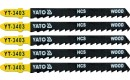 JIG SAW BLADE TYPE T, 6 TPI, FOR WOOD, 5 PCS