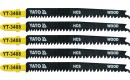 JIG SAW BLADE TYPE T, 13-8 TPI, FOR WOOD, 5 PCS